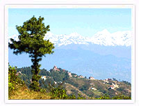View of himalayan Hills from Nagarkot